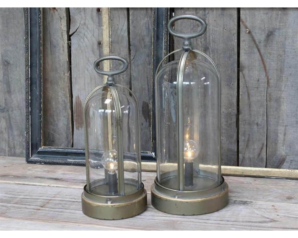 Chic Antique Fransk kuppel lanterne H29-31