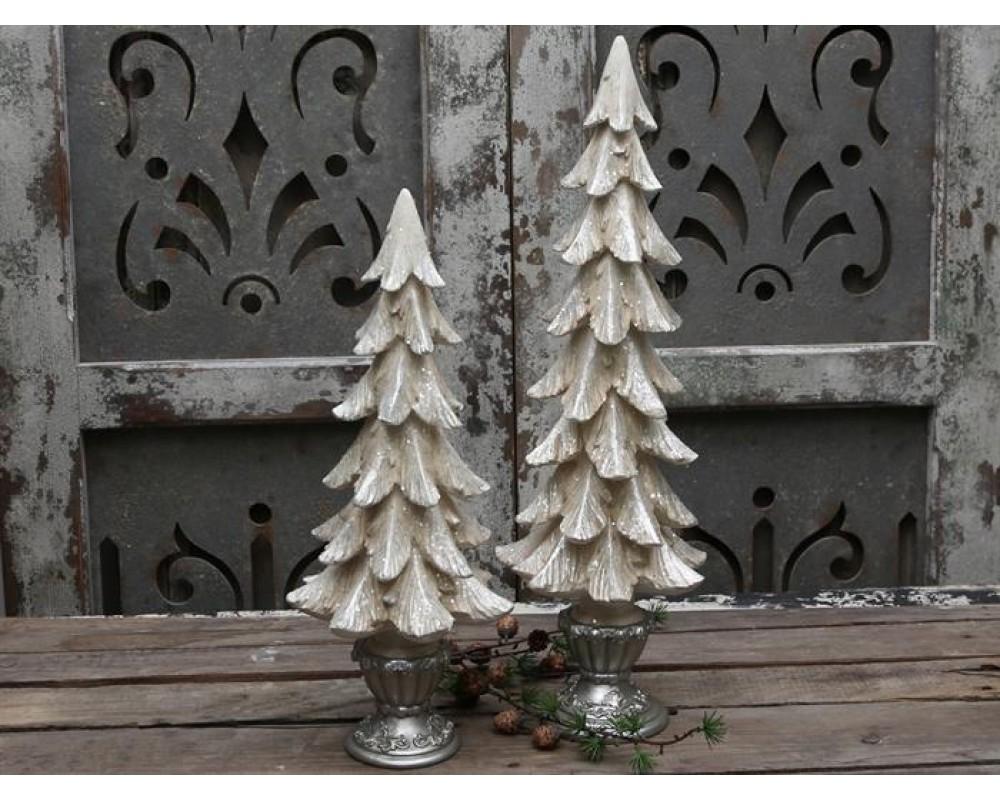 Chic Antique Vintage juletræ m/ glimmer H50-31