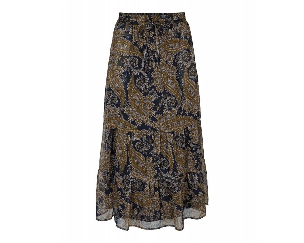 co couture lang nederdel sort
