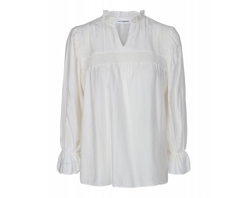 bluse med flæser off white co couture
