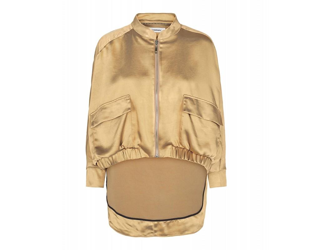 co' couture mirage sateen jakke gylden