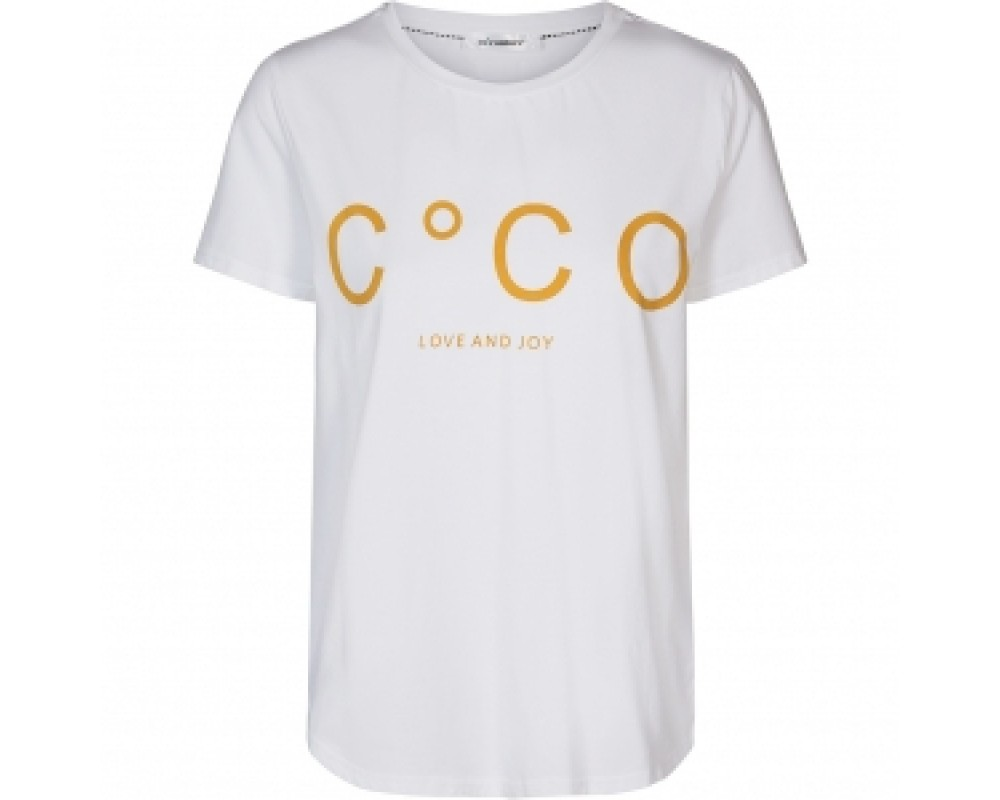 T-shirt co couture hvid