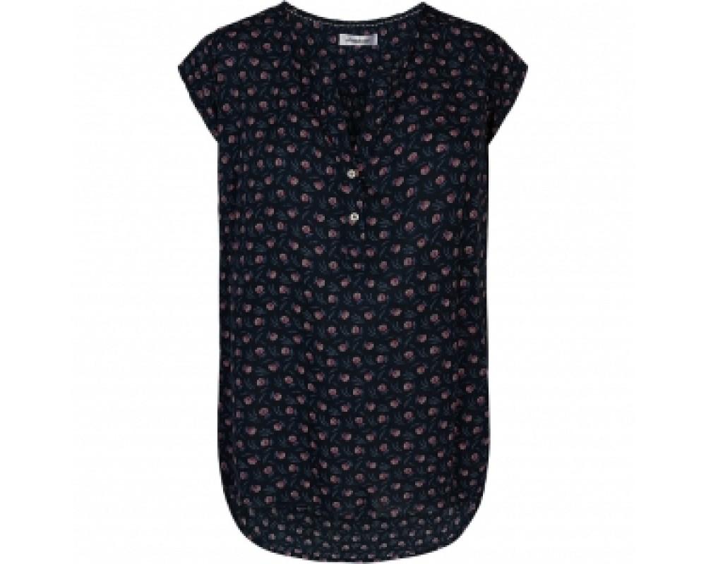 co couture doobie bluse navy