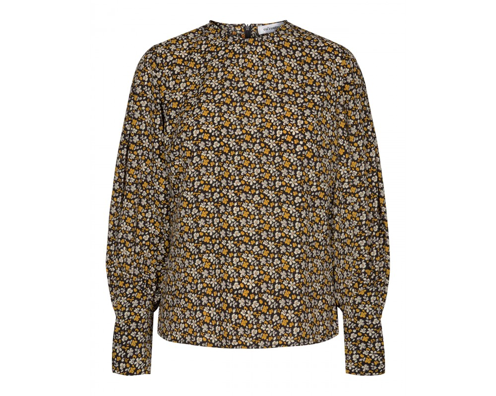 bluse med blomster co couture
