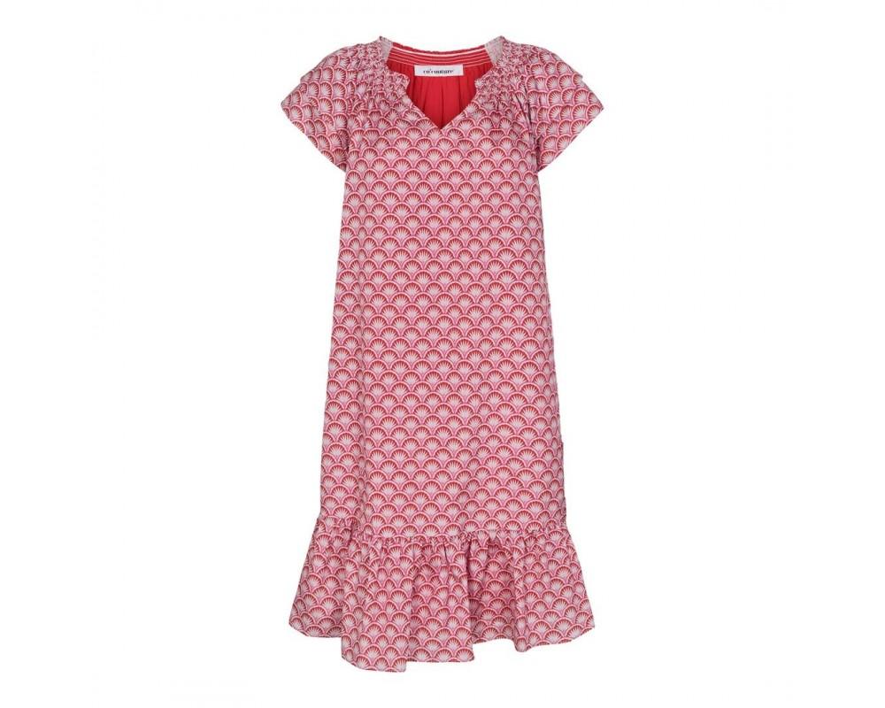 kort kjole rød pink co couture