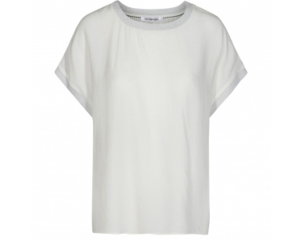 co' couture New norma top off white