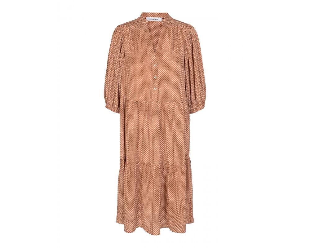 kort kjole brun co couture