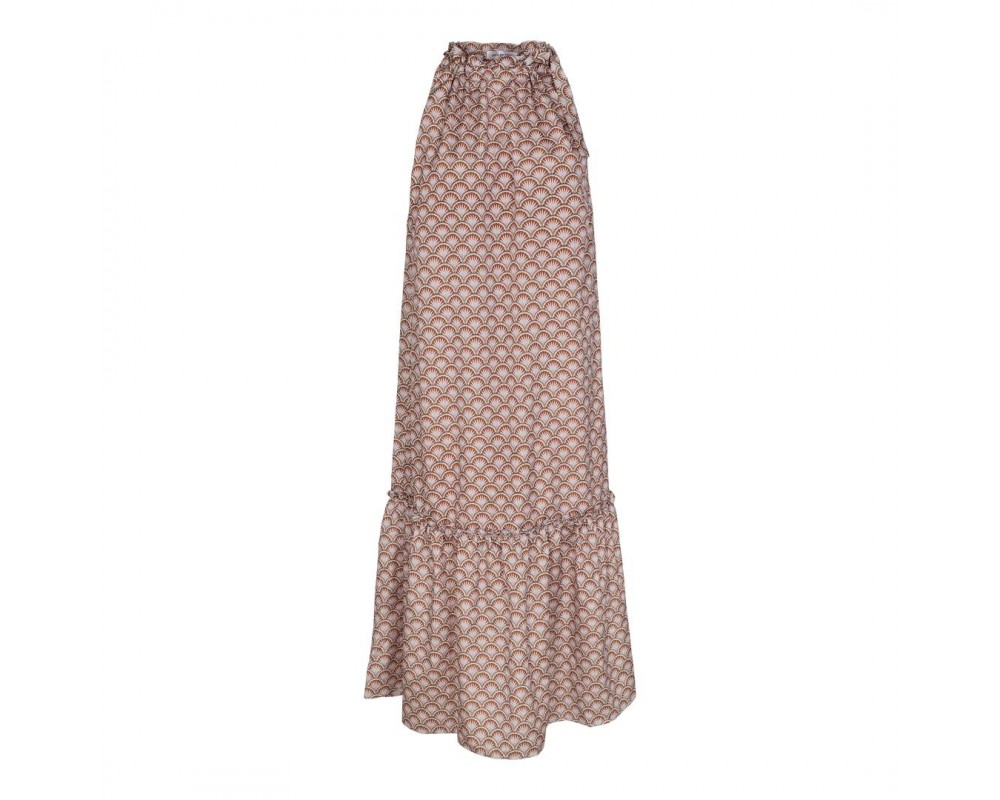 lang kjole brun co couture