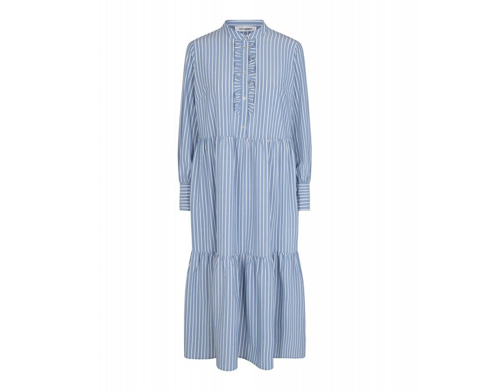 lang stribet kjole lyseblå co couture