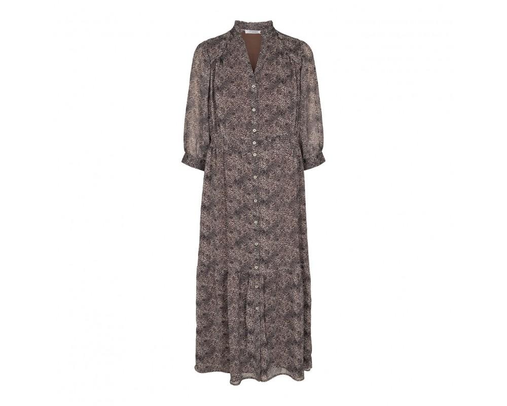 midi lang kjole brun co couture