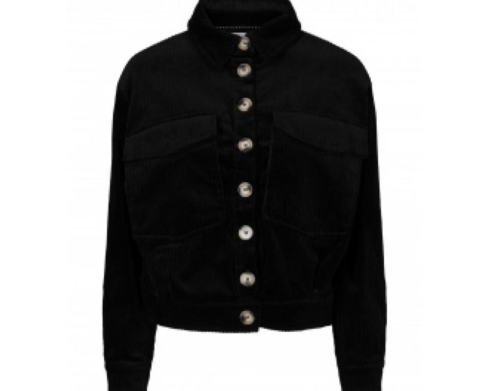 jakke fløjl sort co couture