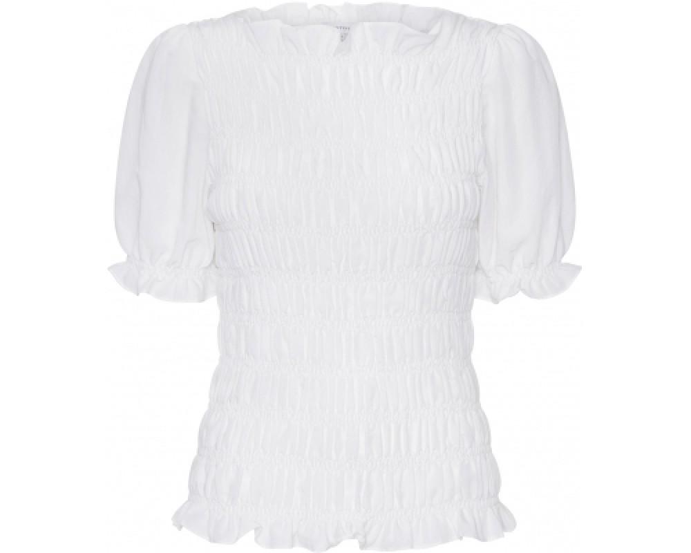 smock bluse hvid continue