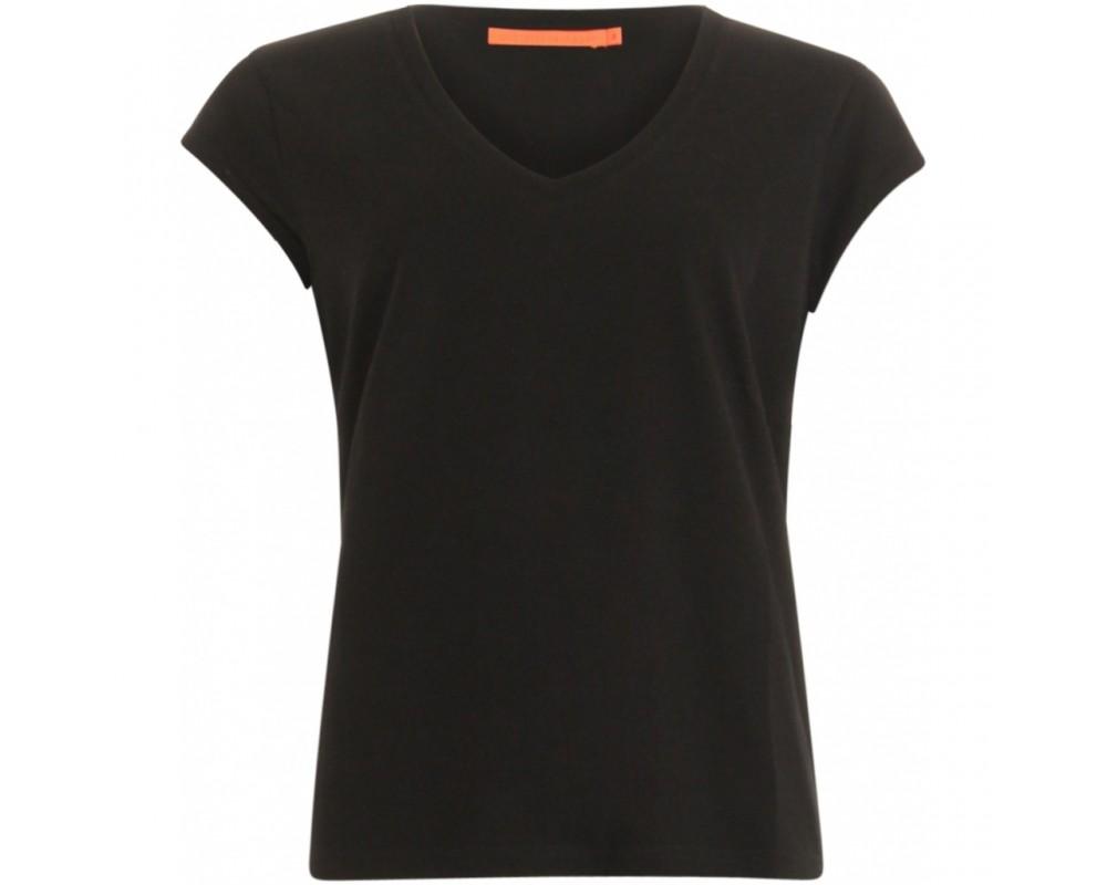 T-shirt med v-hals coster copenhagen sort