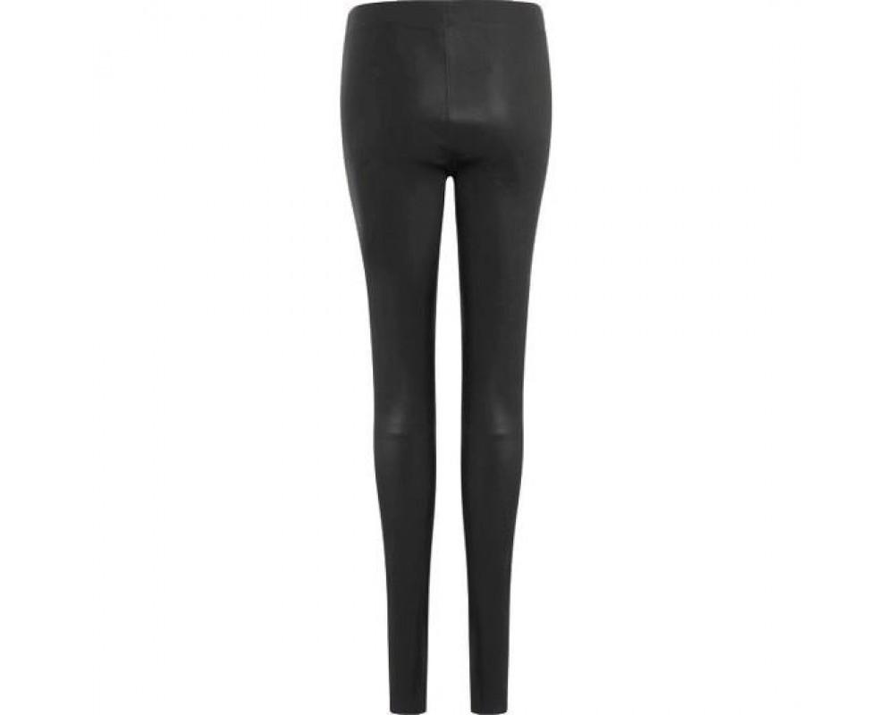Coster Copenhagen Leather stretch leggings Mynthe black