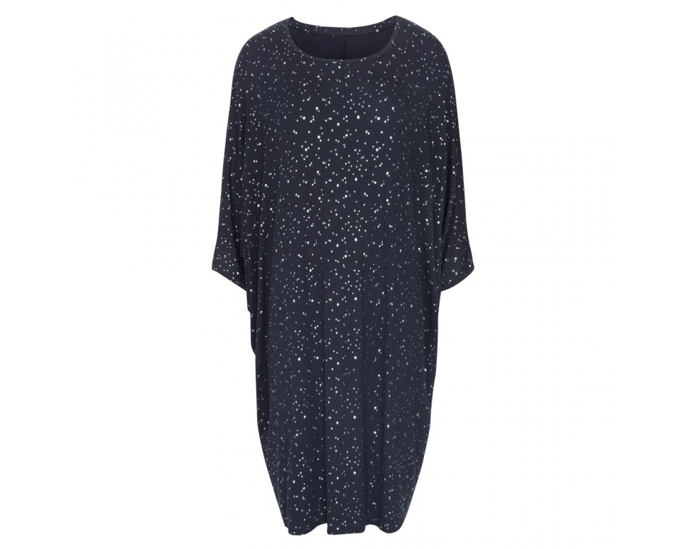 comfy copenhagen oversize kjole navy shiny dots
