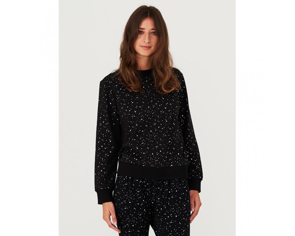 sweatshirt sort silver dots comfy copenhagen