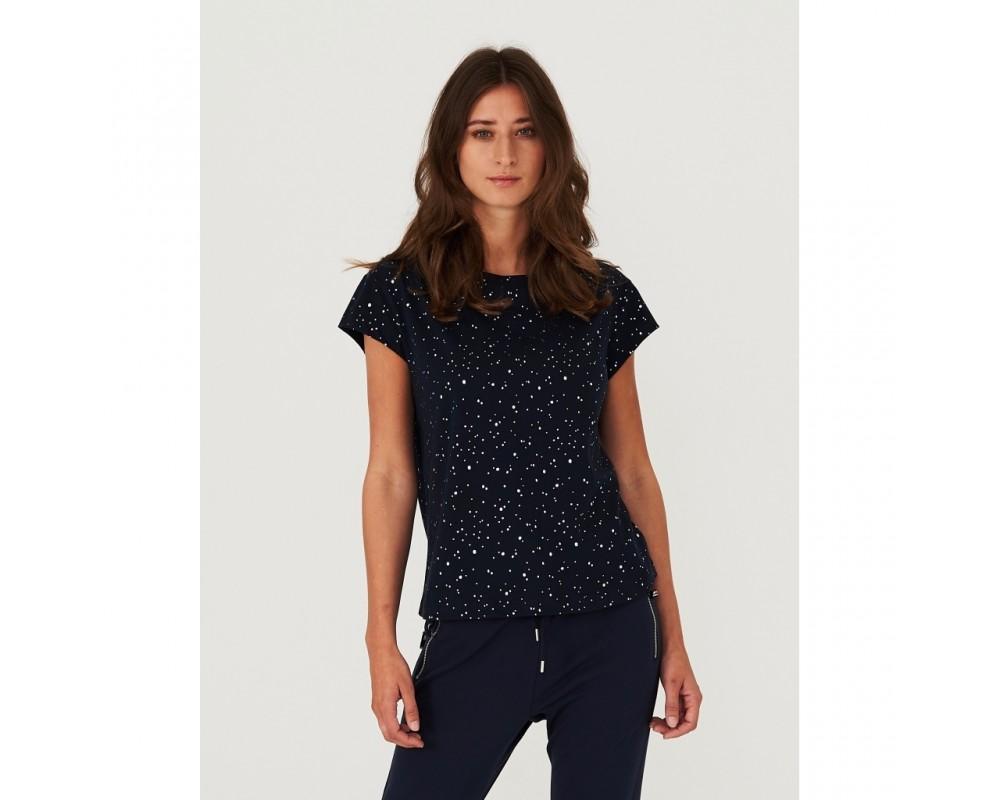 t-shirt navy shiny dots comfy copenhagen