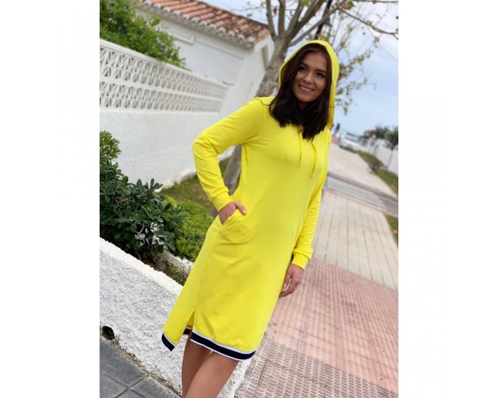 comfy copenhagen kjole gul