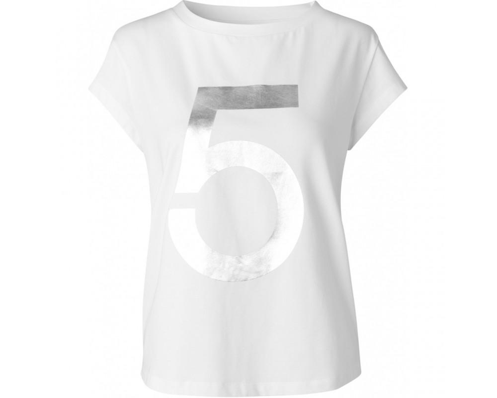 T-shirt hvid med print comfy copenhagen