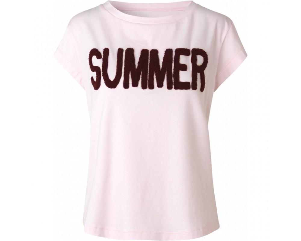 T-shirt med print lyserød comfy copenhagen