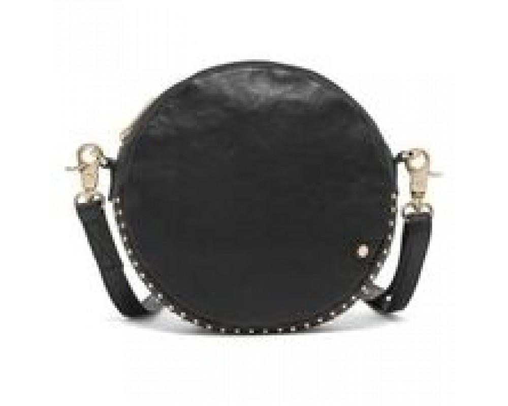 Black colour rund taske