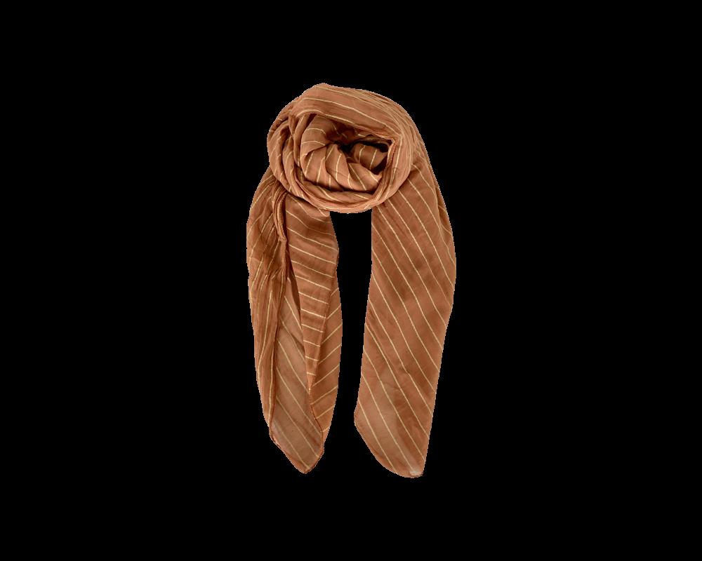 tørklæde med striber karamel black colour