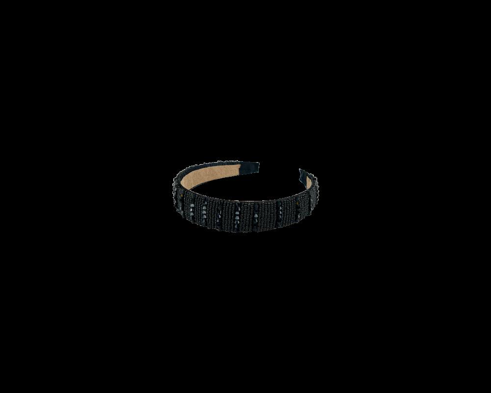 hårbøjle med sorte perler black colour