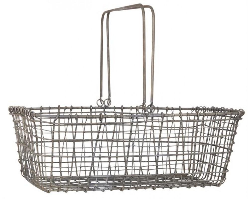 Ib Laursen Kurv i wire med 2 hanke-31
