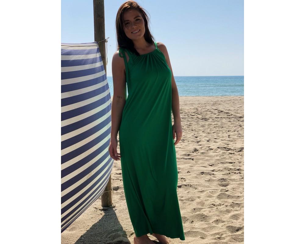comfy copenhagen lang kjole grøn