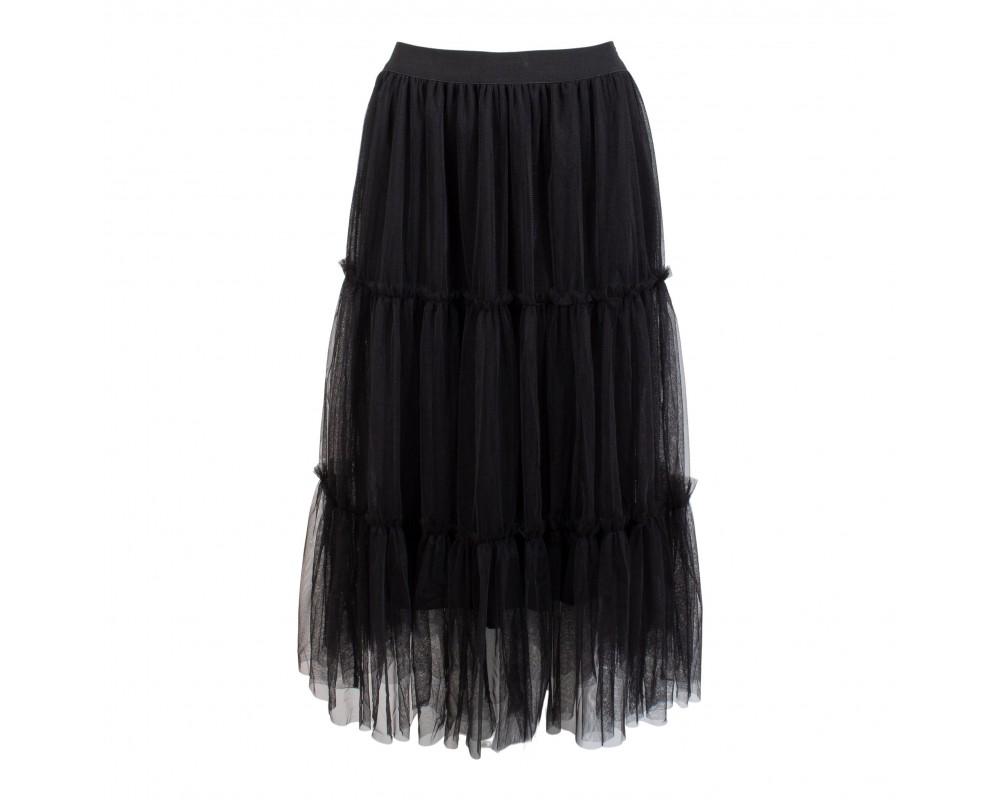 tyl nederdel in front
