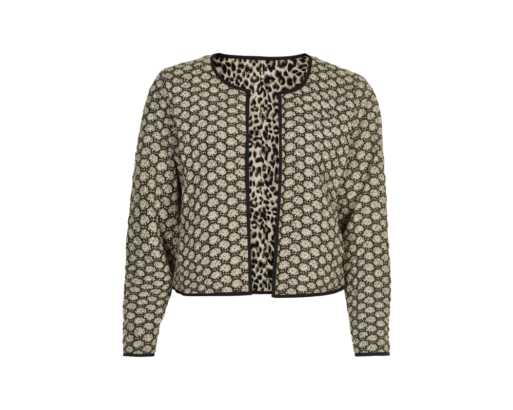 kort quiltet jakke in front