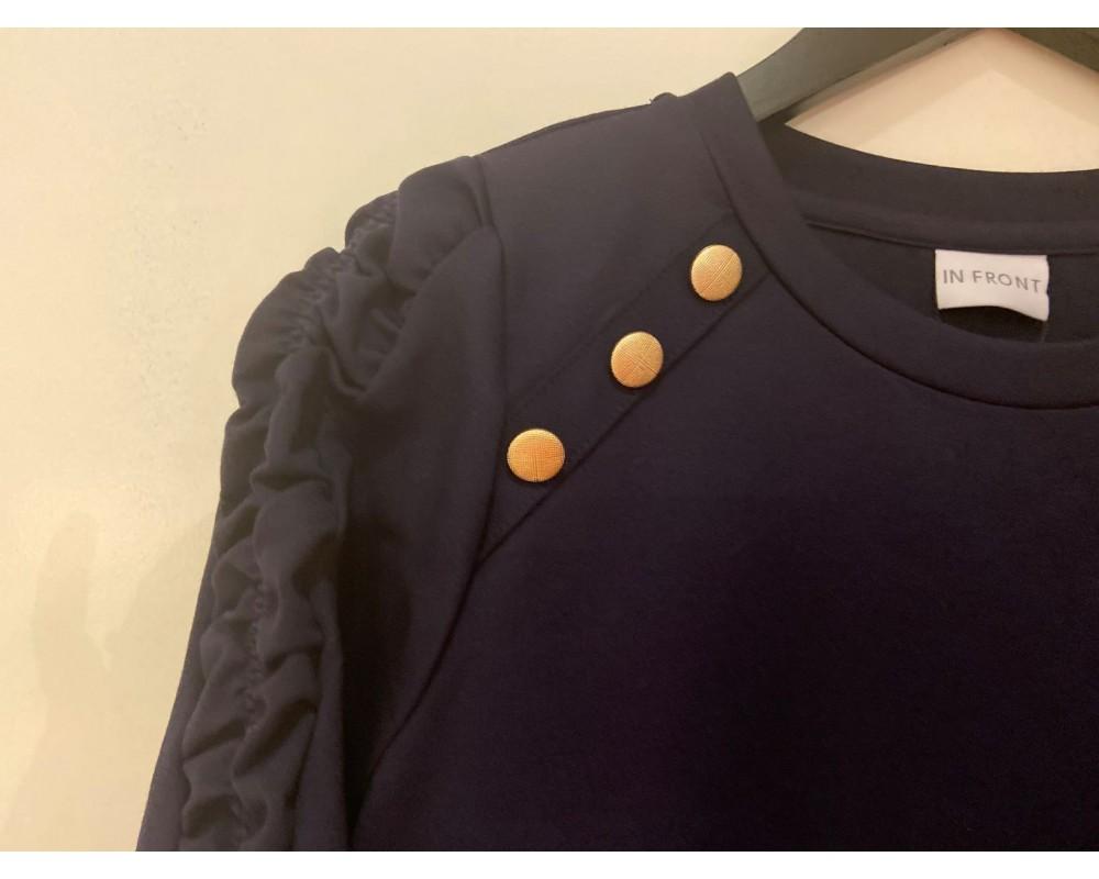 dame sweatshirt navy in front