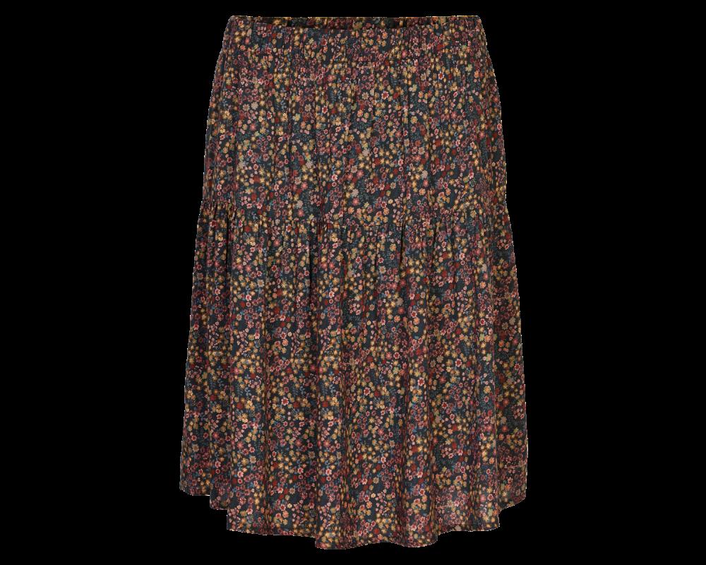 kort småblomsteret nederdel in front