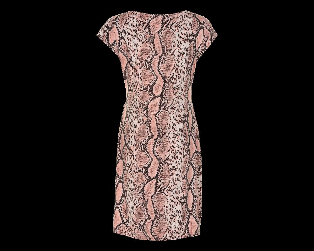 in front kjole i snake print