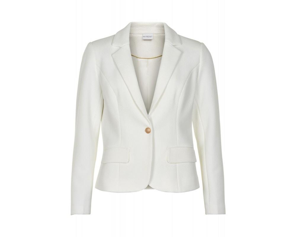 in front blazer jakke hvid
