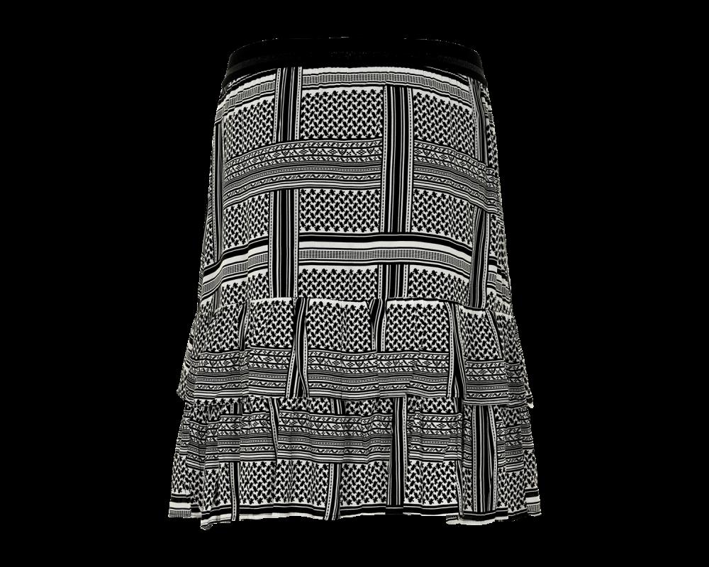 iN FRONT nederdel sort hvid