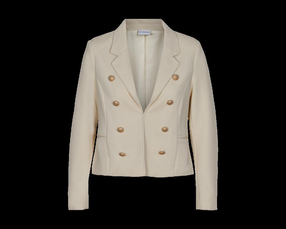 dame blazer jakke off white in front