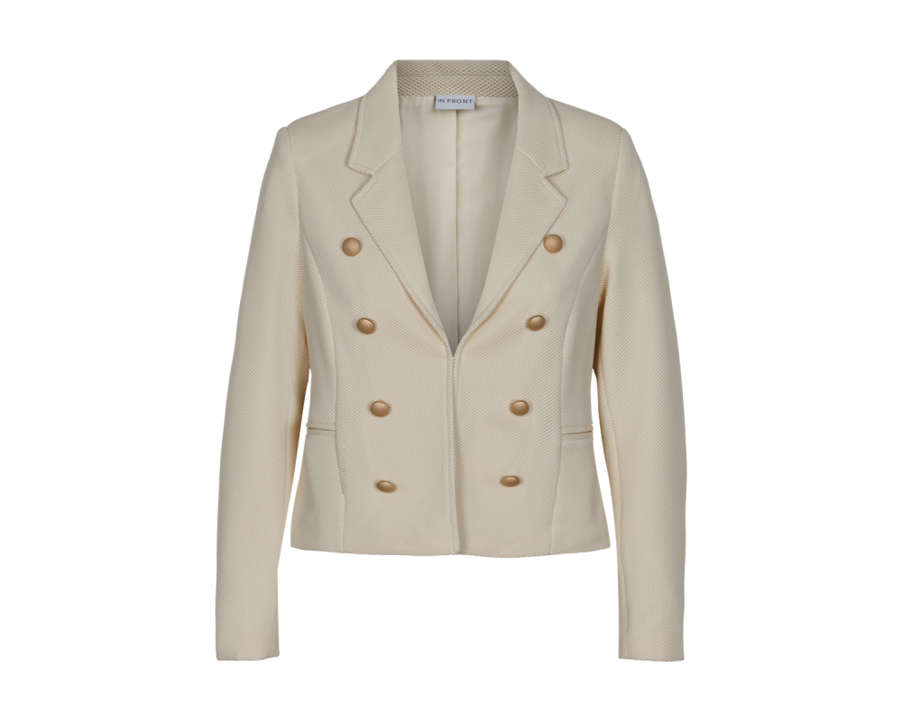 dame blazer jakke off white in front