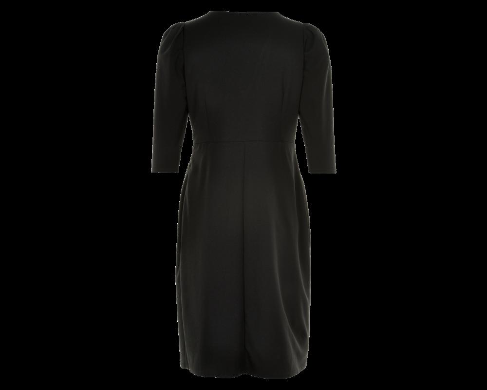 sort kort kjole in front