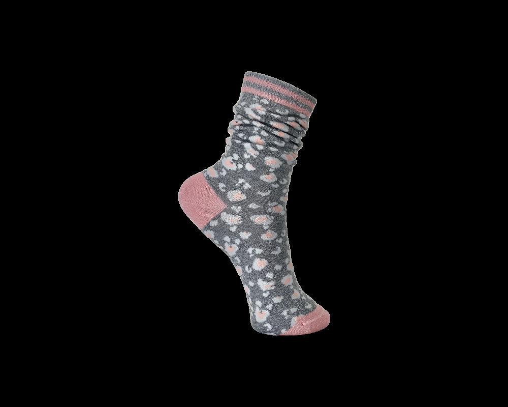 glimmerstrømper leoprint black colour