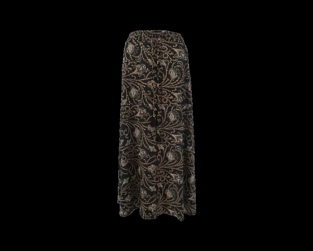 lang nederdel sort med print black colour