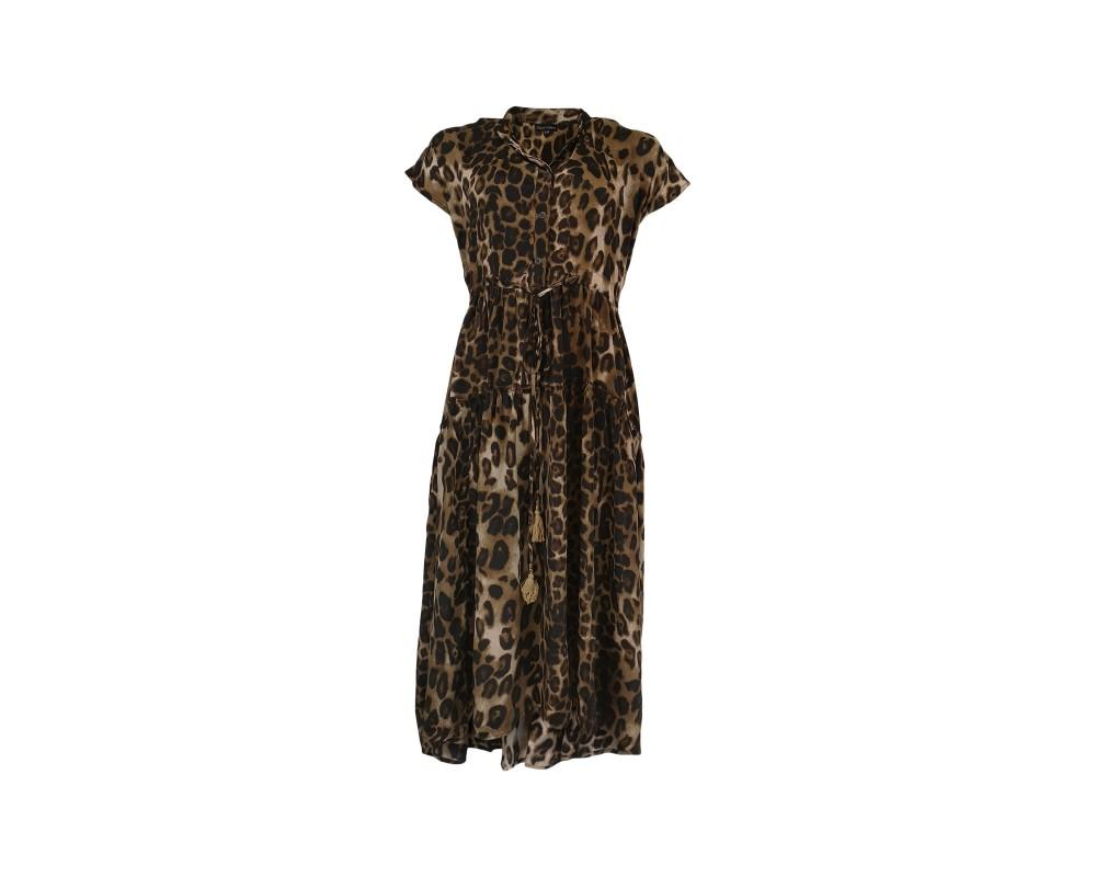 Luna kjole leopard black colour