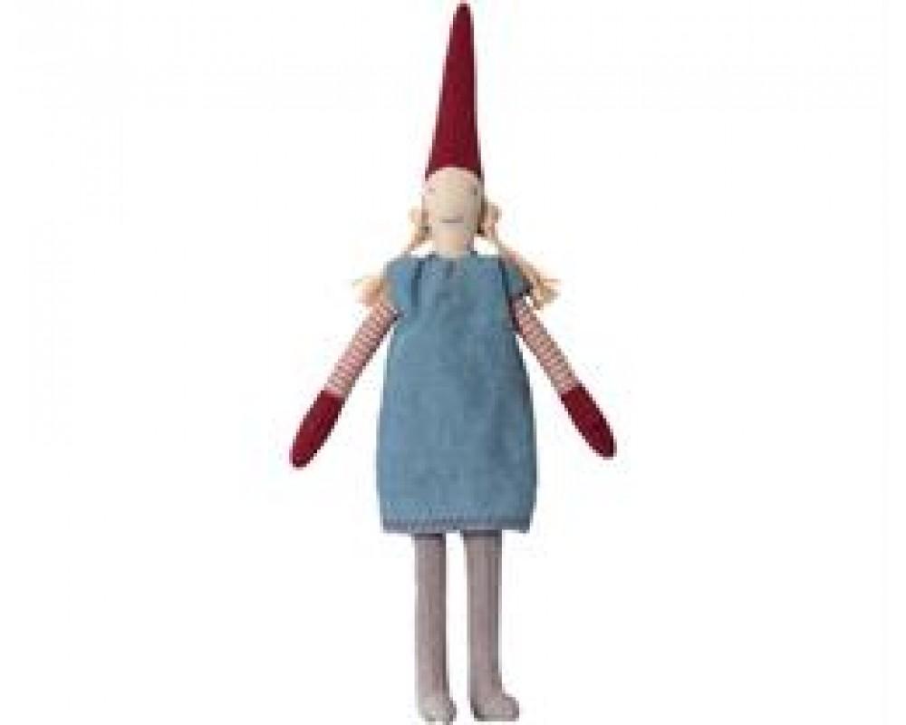 Maileg Mini Pixy Pige m/ blå kjole-31