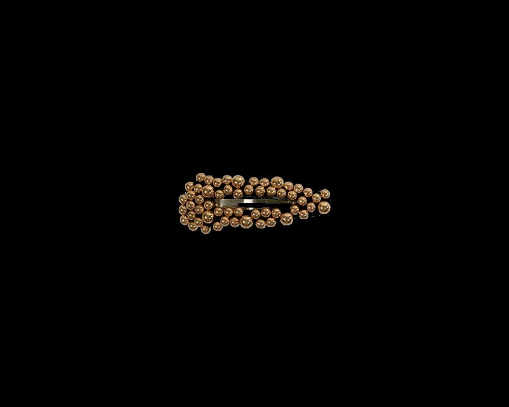 black colour hårspænde guld perler