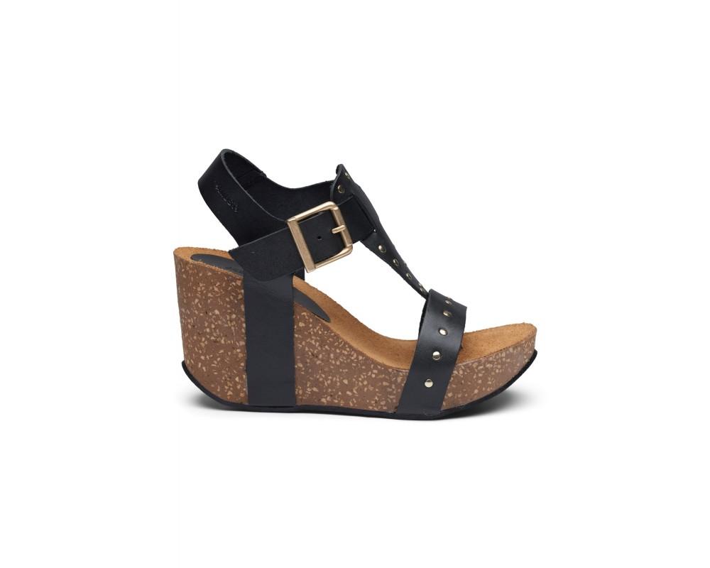 høj sandal sort med nitter amust