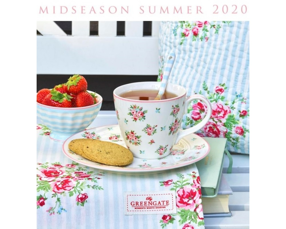 GreenGate Mid Season Summer 2020 Abigail white tallerken