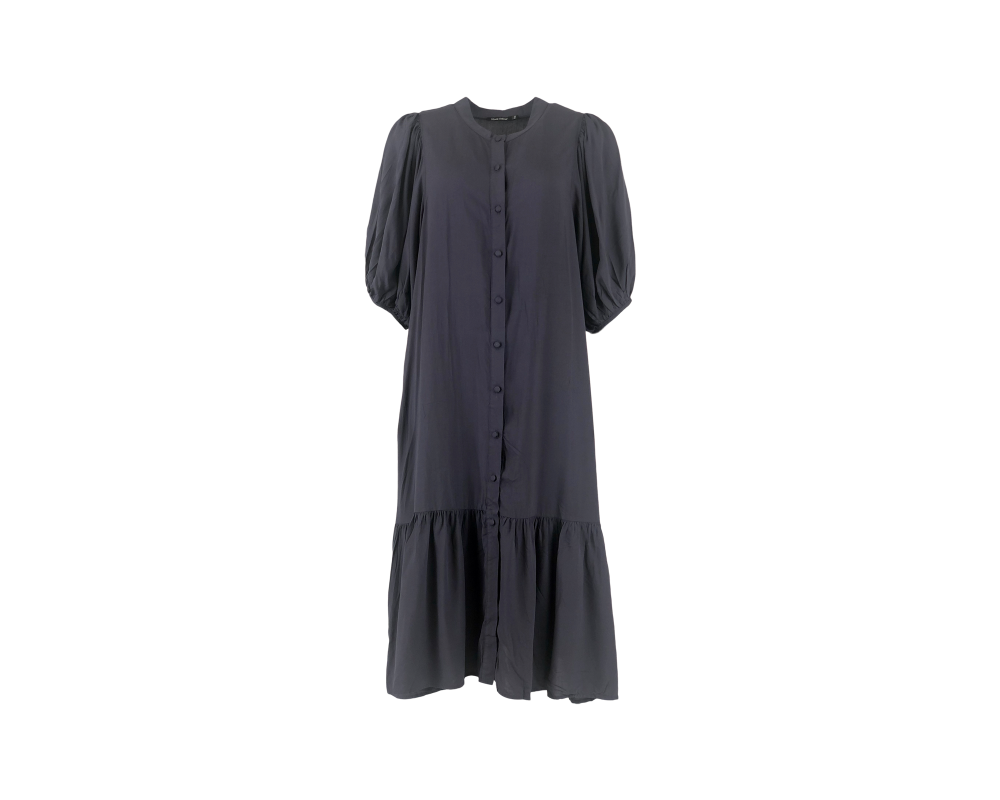 monica midi kjole navy black colour
