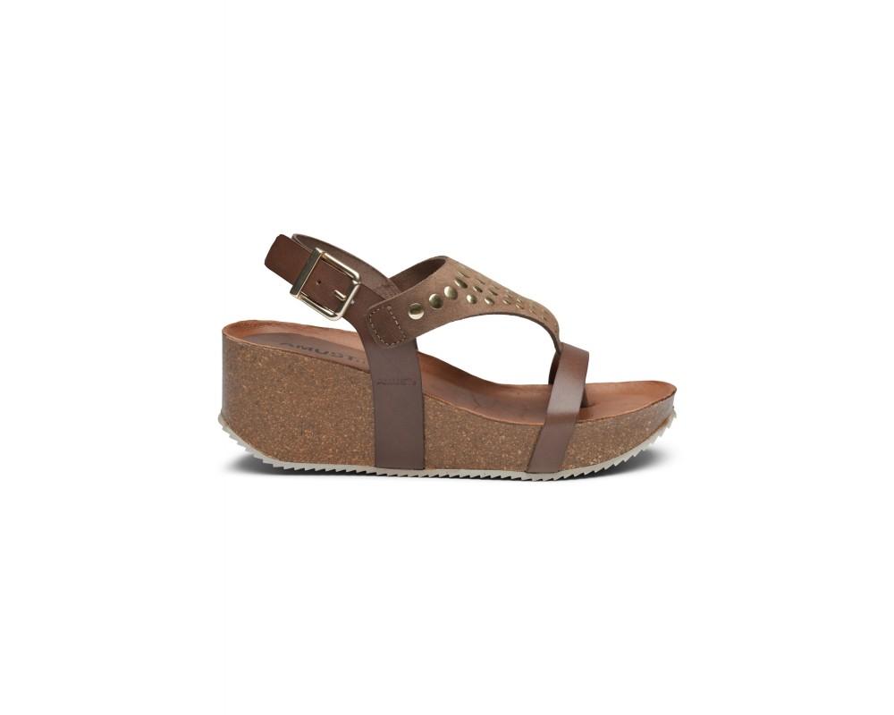 wedge sandal taupe m. nitter amust