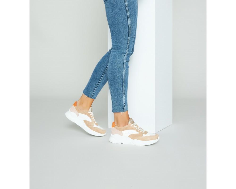 dame sneakers philip hog camel