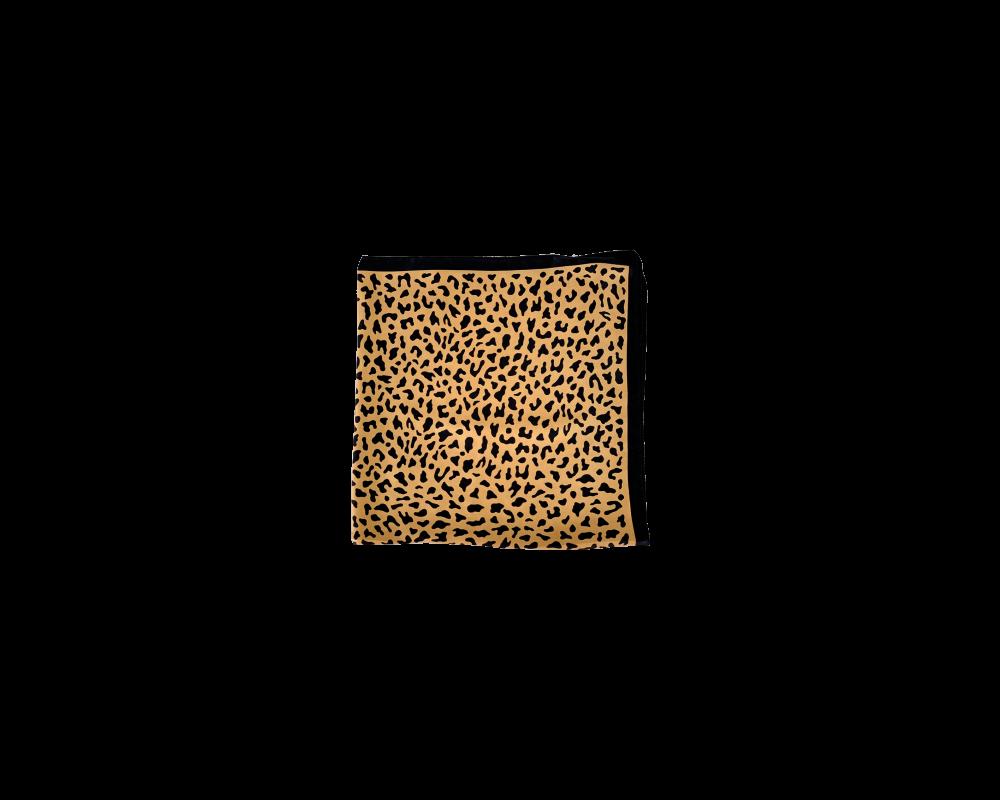 lille tørklæde i dyreprint black colour